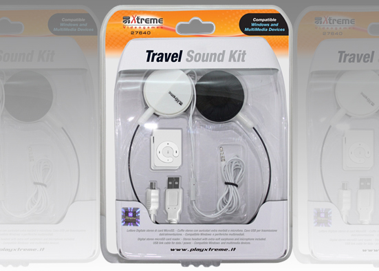LETTORE MP3 Travel Sound No Memory Black