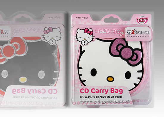 PORTA CD/DVD HELLO KITTY  24PZ