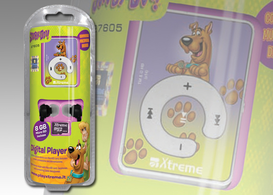 LETTORE MP3+Micros-SD 8G Scooby-Doo