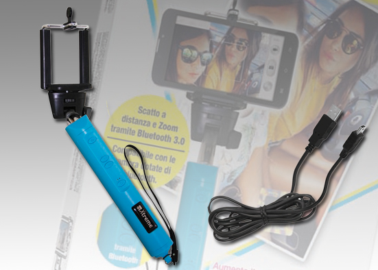 Asta Selfie Wireless BT con Zoom Black