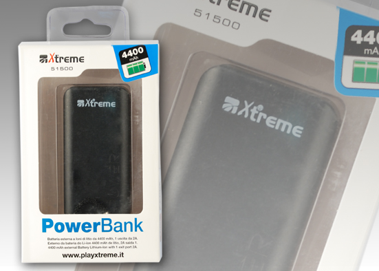 POWER BANK DA 4400 mAh BLACK