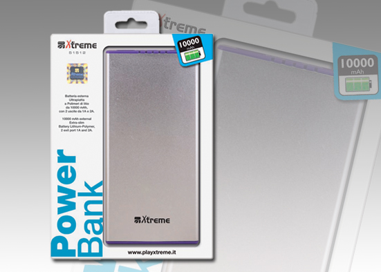 POWER BANK PIATTO DA 10000mAh