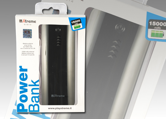 POWER BANK PIATTO 15000mAh