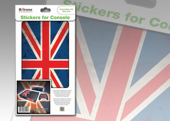 XB ONE STICKER UK FLAG
