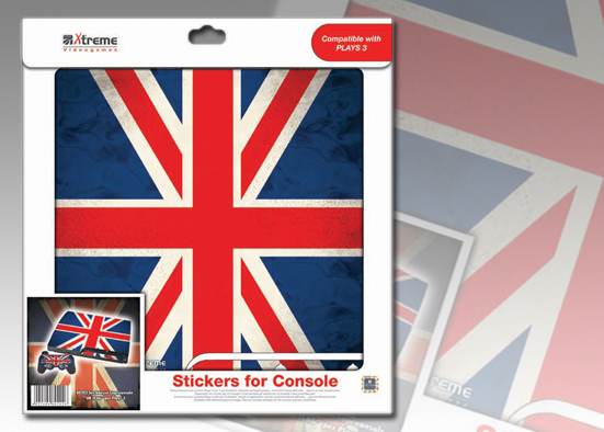PLAYS3 STICKER UK FLAG