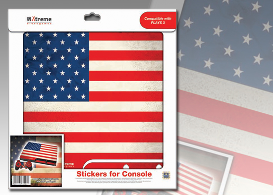 PLAYS3 STICKER USA FLAG