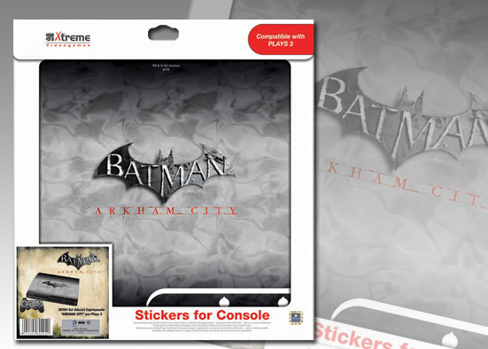 PLAYS3 STICKER BATMAN ARKHAM CITY MOD 2