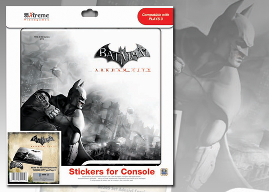PLAYS3 STICKER BATMAN ARKHAMCITY MOD 4