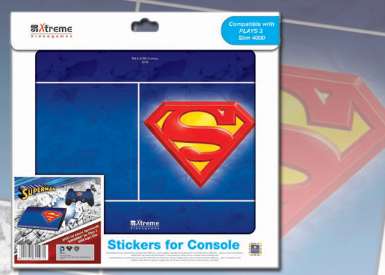 PLAYS3 STICKER SUPERMAN