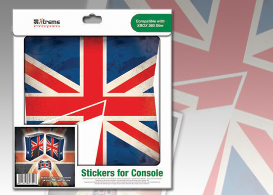 XB 360 STICKER UK FLAG