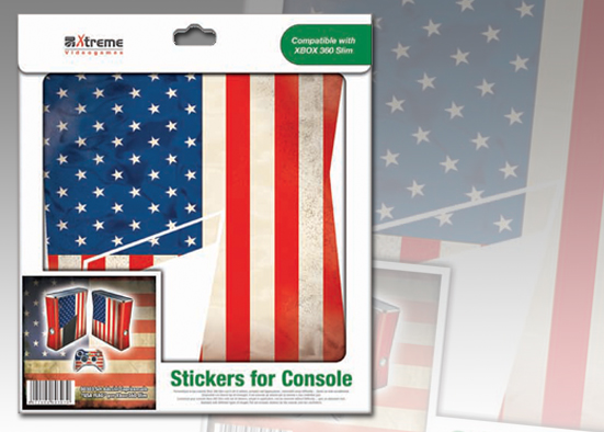XB 360 STICKER USA FLAG