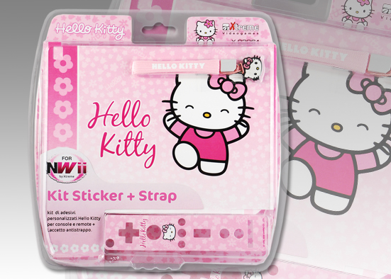 WII KIT STICKER WII HELLO KITTY 93261